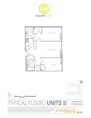floorplan for 1209 Dekalb Avenue #202