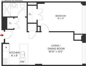 floorplan for 315 Gates Avenue #2B