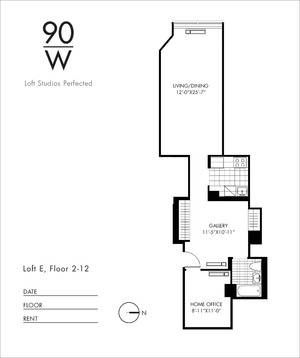 floorplan for 90 Washington Street #5E