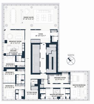 floorplan for 157 West 57th Street #83