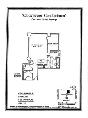 floorplan for 1 Main Street #6F
