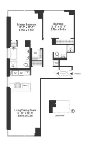 floorplan for 39 East 29th Street #29A