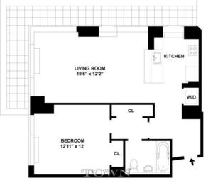 floorplan for 635 West 42nd Street #10A