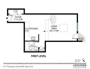 floorplan for 211 Thompson Street #6P