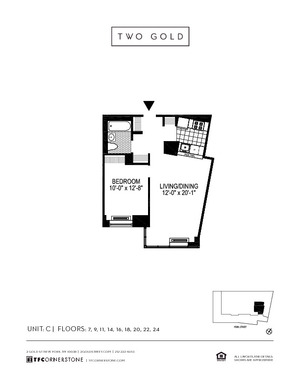 floorplan for 2 Gold Street #7C