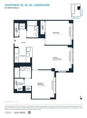floorplan for 305 West 16th Street #3E