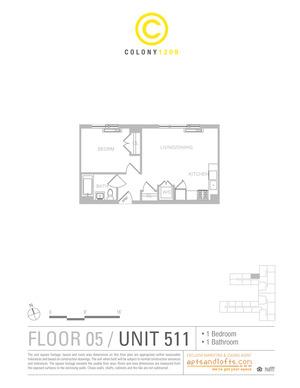 floorplan for 1209 Dekalb Avenue #511