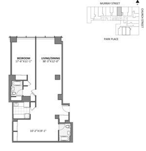 floorplan for 50 Murray Street #F140