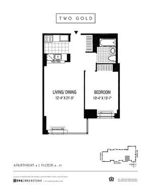 floorplan for 2 Gold Street #1504