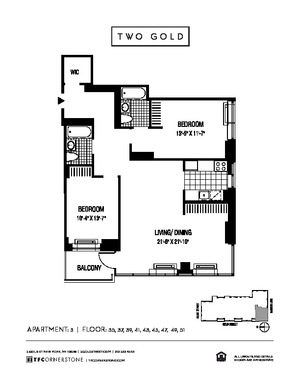 floorplan for 2 Gold Street #4503