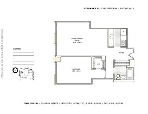 floorplan for 75 West Street #11C