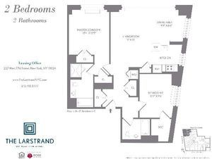 floorplan for 227 West 77th Street #17G