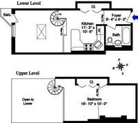 floorplan for 211 Thompson Street #6C