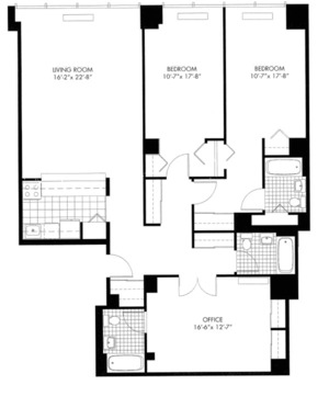 floorplan for 50 Murray Street #1010