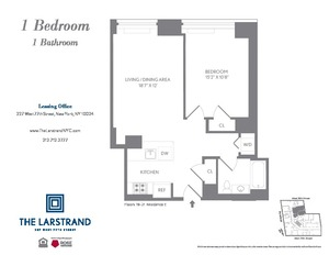 floorplan for 227 West 77th Street #20E