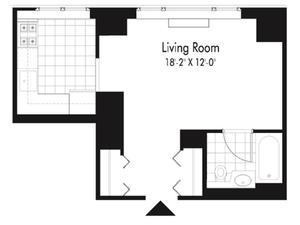 floorplan for 601 West 57th Street #23D