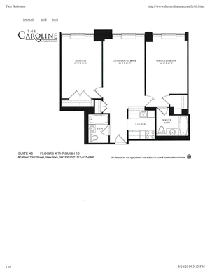 floorplan for 60 West 23rd Street #448
