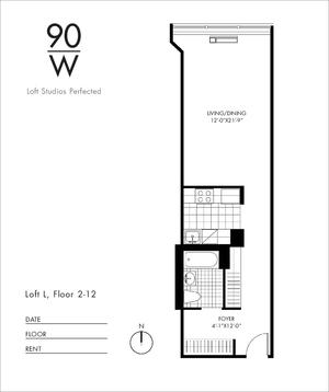 floorplan for 90 Washington Street #3L