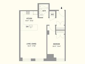 floorplan for 55 West 17th Street #301