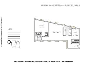 floorplan for 75 West Street #3M