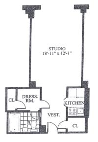 floorplan for 30 Park Avenue #14O