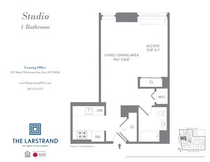floorplan for 227 West 77th Street , #9J