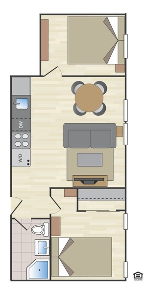 floorplan for 170 East 2nd Street #4A
