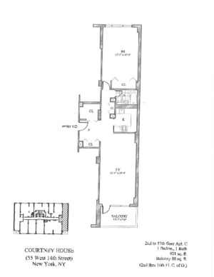 floorplan for 55 West 14th Street #12C