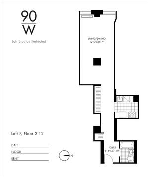 floorplan for 90 Washington Street #9F