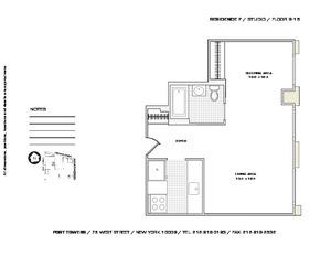 floorplan for 75 West Street #11F