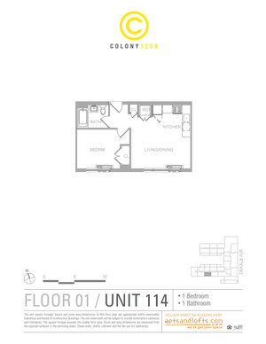 floorplan for 1209 Dekalb Avenue #114