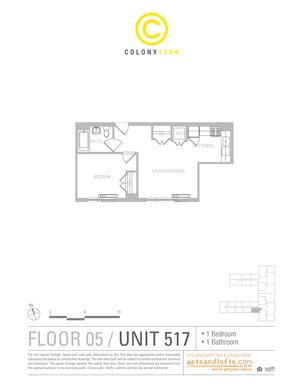 floorplan for 1209 Dekalb Avenue #517