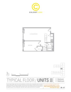floorplan for 1209 Dekalb Avenue #305