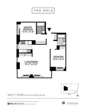 floorplan for 2 Gold Street #11F