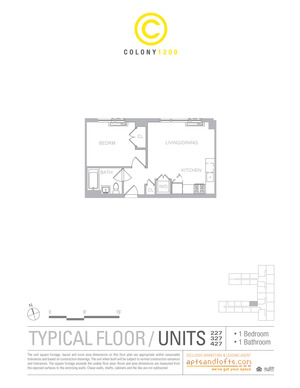floorplan for 1209 Dekalb Avenue #327