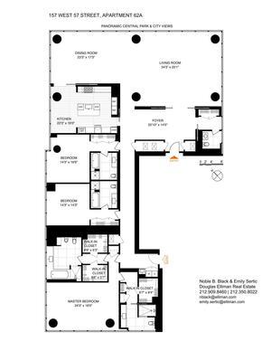 floorplan for 157 West 57th Street #62A
