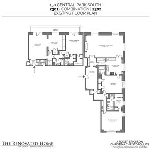 floorplan for 150 Central Park South 2301/2303