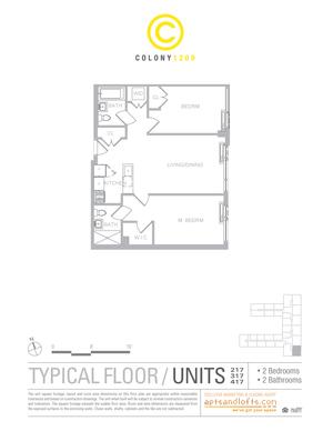 floorplan for 1209 De Kalb Avenue #417