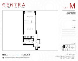 floorplan for 230 East 44th Street #8M