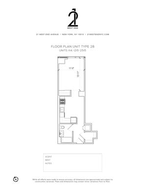 floorplan for 21 West End Avenue #2015