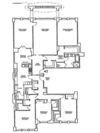 floorplan for 15 Central Park West #9B
