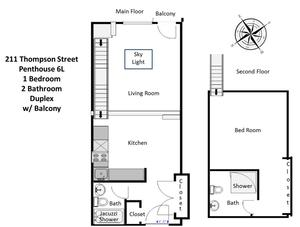 floorplan for 211 Thompson Street #PHL