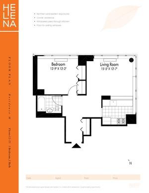 floorplan for 601 W 57th Street #29M