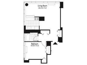 floorplan for 601 West 57th Street #29N