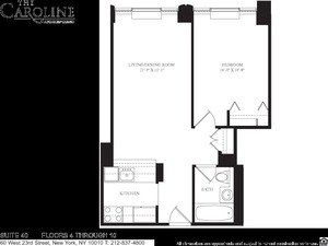 floorplan for 60 West 23rd Street #440
