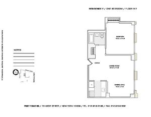 floorplan for 75 West Street #7F
