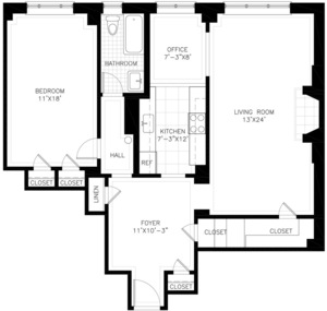 floorplan for 235 East 22nd Street #10I