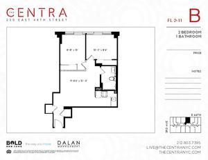 floorplan for 230 East 44th Street #9B
