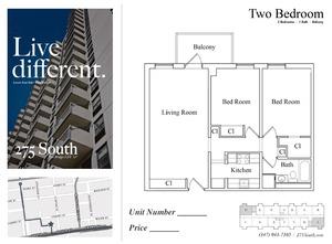 floorplan for 275 South Street #16C