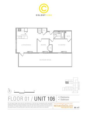 floorplan for 1209 Dekalb Avenue #2106